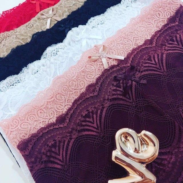 calcinha plus size pala larga detalhe renda cintura alta lingerie atacado - Foto 5