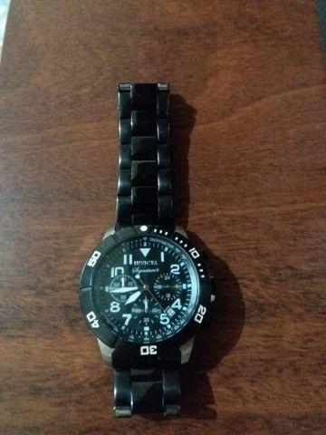 Relógio masculino com mostrador preto Signature II Chronograph 7351 - Foto 5