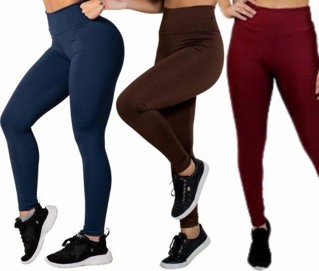 Legging Peluciada/Flanelada feminina  varias cores P ao GG e G1 ao G3 - Foto 2