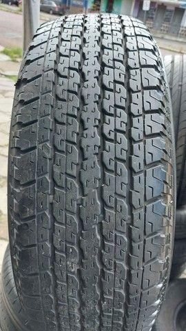Jg Roda Hilux Aro 16 6x139 + Pneu 265/70 R16 Bridgestone,  semi novo - Foto 2