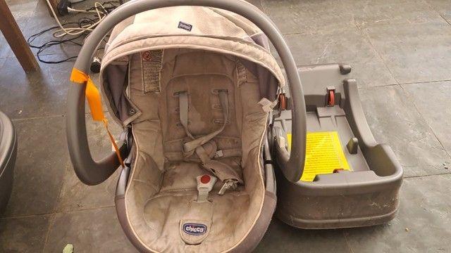 Kit carrinho de bebe + bebe conforto + Moisés marca chicco - Foto 6