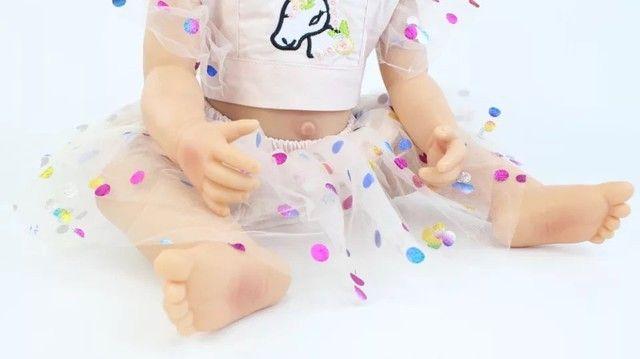Boneca bebê reborn de silicone - Foto 3