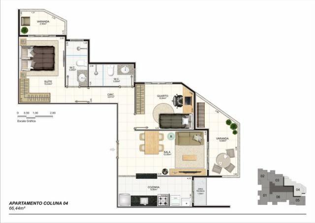 Apartamento 02 Quartos, Bairro Riviera, Lançamento na Planta - Foto 5