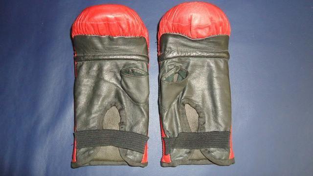 Luva bate saco de pancadas Punch em couro legítimo df2112e5bc756