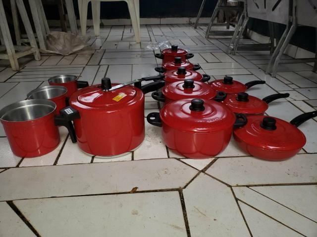 JOGO DE PANELA leiteira panelas de pressão frigideiras