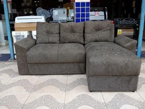 Peça Já é Receba No Mesmo Dia Lindo Sofa Com Chaise Apenas 599,00 - Foto 2