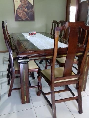 Mesa de jantar com 8 cadeira - Foto 2