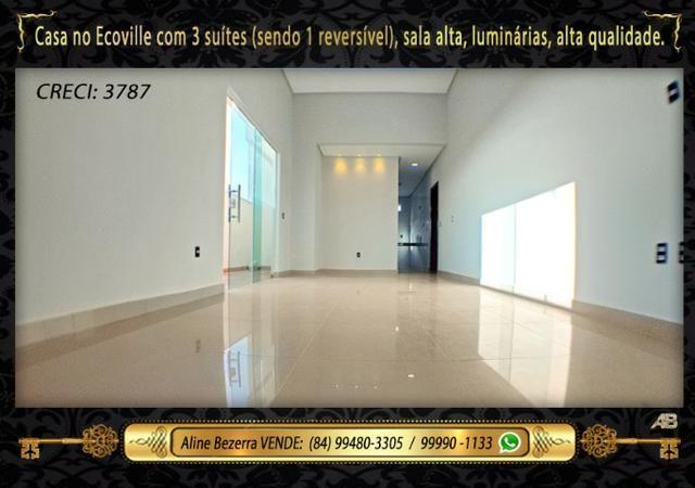 Financia, casa com 3 suítes no Ecoville, sombra, alta qualidade, venha conhecer - Foto 4
