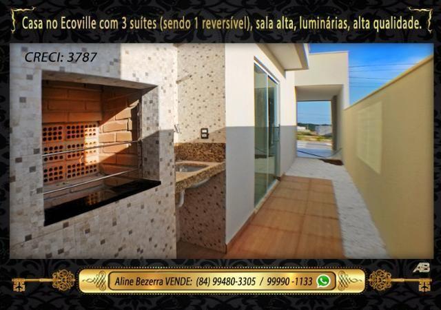 Financia, casa com 3 suítes no Ecoville, sombra, alta qualidade, venha conhecer - Foto 12