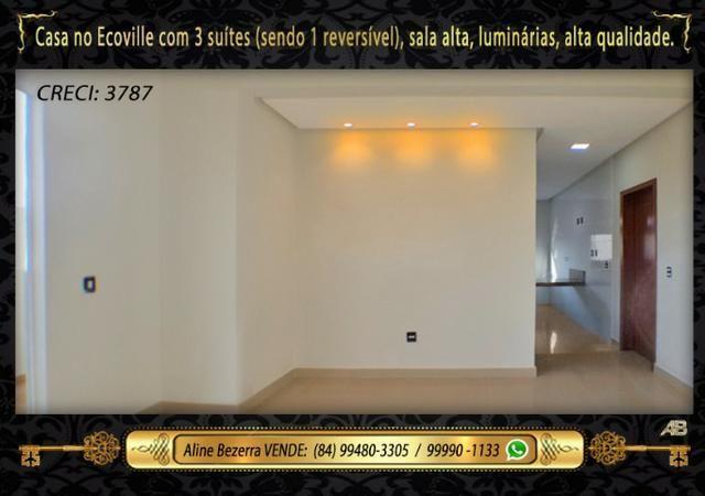 Financia, casa com 3 suítes no Ecoville, sombra, alta qualidade, venha conhecer - Foto 5