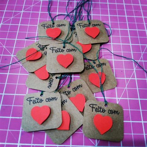 Cartão Tag Natalina 50 un para produtos artesanais