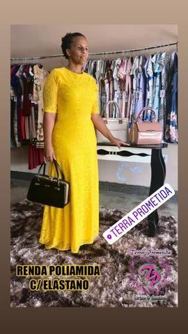 Vestido Renda Longo - Foto 2