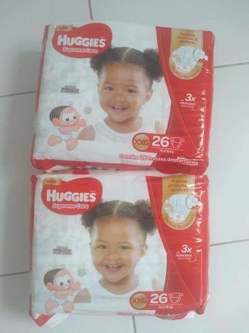 2 pacotes de fraldas huggies supreme care - Foto 3