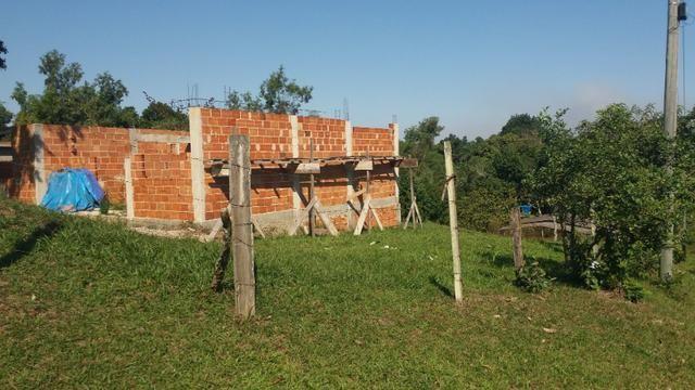 Vendo terreno com casa para terminar - Foto 3