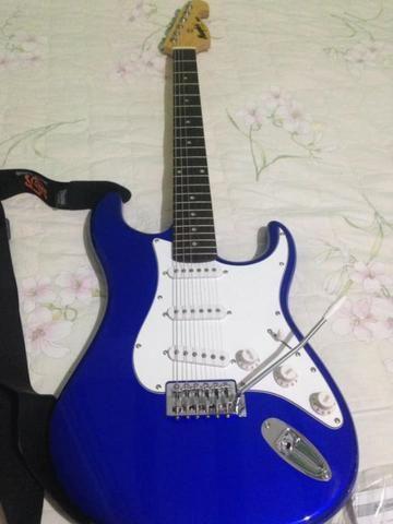Kit De Guitarra Memphis Mg-32 Bl Amplificador E Acessórios - Foto 4