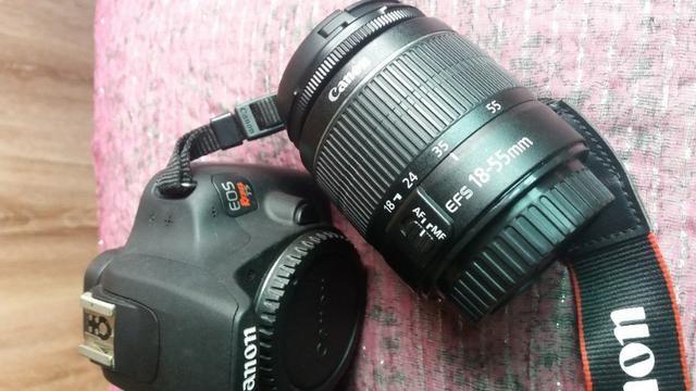 Câmera Fotográfica Cannon EOS Rebel T5 com 2 lentes e acessórios - Foto 4