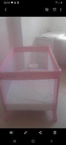 Berço cercado burigotto rosa - Foto 2