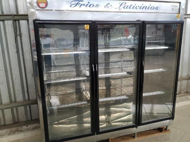 Auto serviço em inox, Alaka, 3 portas, 220v, usado Frete Grátis
