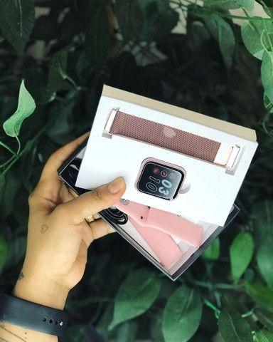 Relogio smartwatch P80 + 2 Pulseira Brinde Promoção