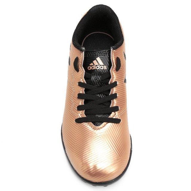 Promoção*Chuteira Society Adidas Messi 16.4 TF (nº 34-NOVO) em Uberaba, MG - Foto 4