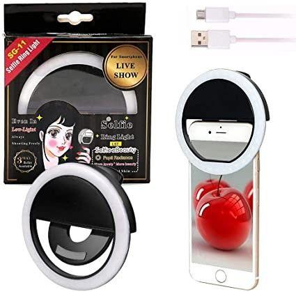 Luz de Selfie Ring Light Anel Led Flash Celular Tablet Smartphone Recarregável - Foto 2