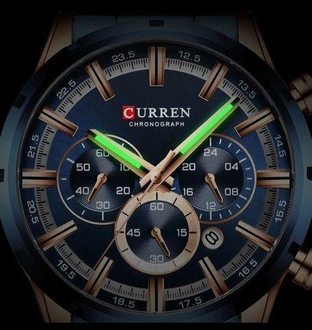 Relógio Curren esportivo de luxo masculino, novo a prova d'água - Foto 4
