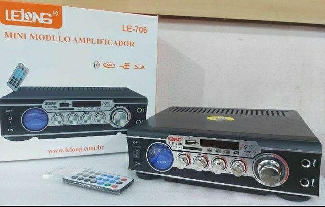 Amplificador Lelong Le-706 Bt/Mp3/Usb-Sd 60W<br>