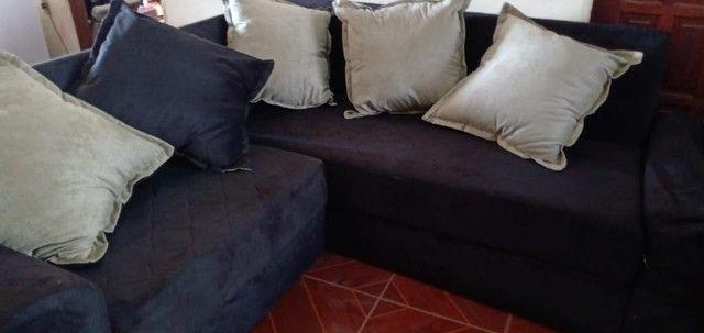 Sofá de canto com almofadas. - Foto 5