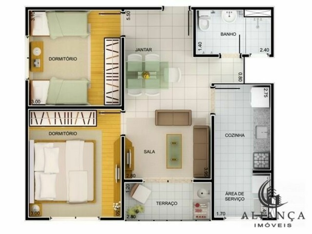 Apartamento à venda no bairro Serraria - São José/SC - Foto 15