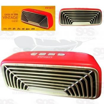 Caixa de som Bluetooth VC-M270BT Vintage Infokit - Foto 2