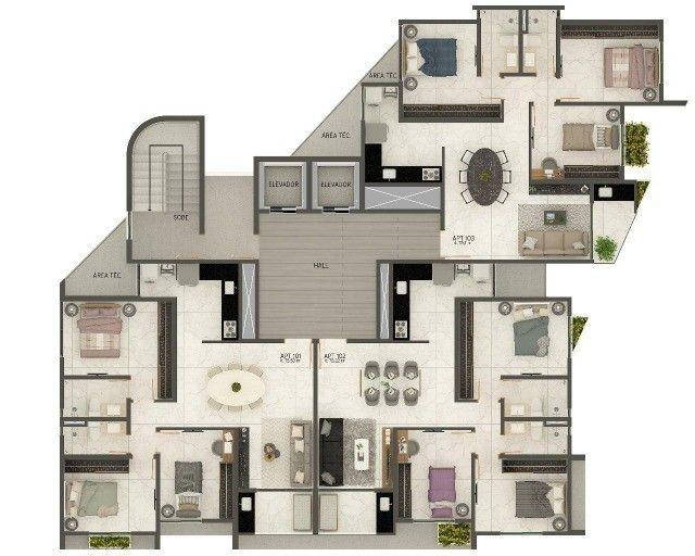 COD 1-487 Apartamento Jardim Oceania 2 quartos bem localizado - Foto 10