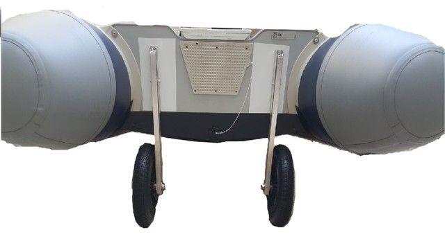 Rodinha para bote inflável , Rodas dobráveis para bote