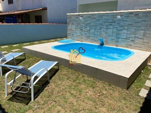 JR-Linda casa lado praia, com 3 quartos área gourmet e piscina. - Foto 2