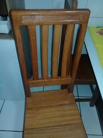 Cadeira de madeira maciça angelim  - Foto 3