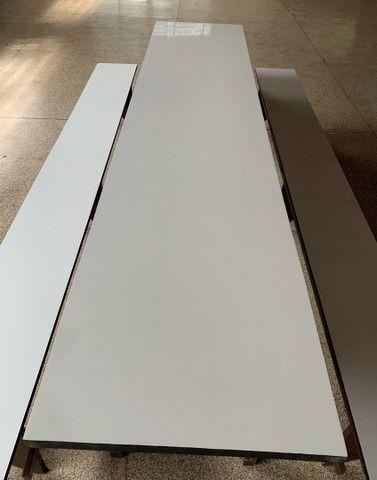 Conjunto mesa e 2 bancos  - Foto 4