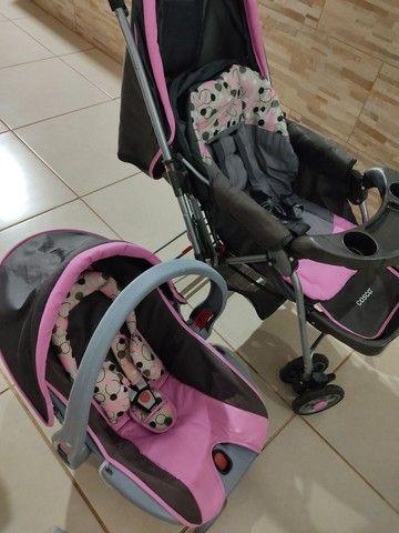 Carrinho de bebê c/ bebê conforto cosco - Foto 5