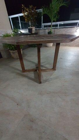 Mesa sextava madeira para jardim - Foto 5