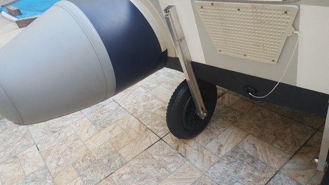 Rodinha para bote inflável , Rodas dobráveis para bote - Foto 5