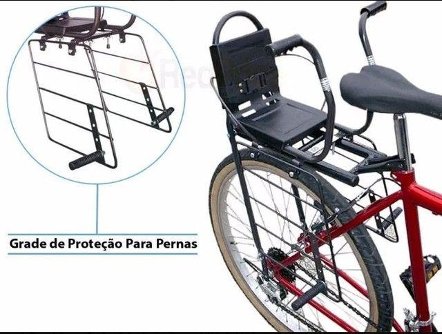 Cadeirinha Bike + Bagageiro - Crianças 01 à 06 Anos  - Foto 2