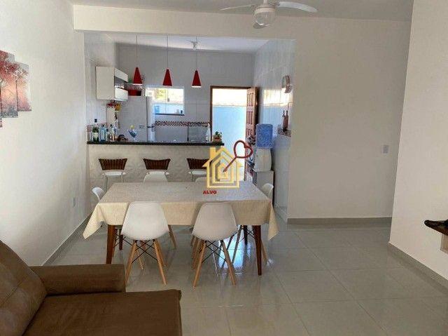 JR-Linda casa lado praia, com 3 quartos área gourmet e piscina. - Foto 8