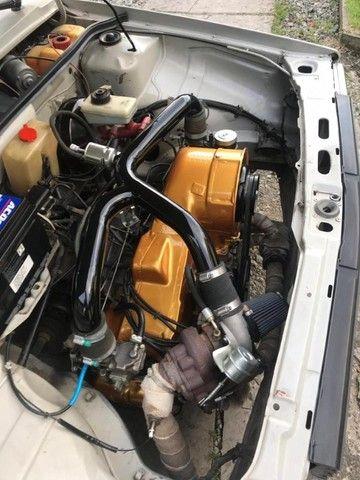 Vendo Gol BX 1985 Dupla carburação turbo - Foto 8