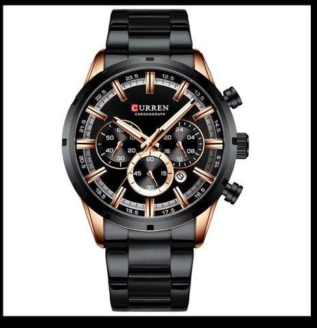 Relógio Curren esportivo de luxo masculino, novo a prova d'água - Foto 5