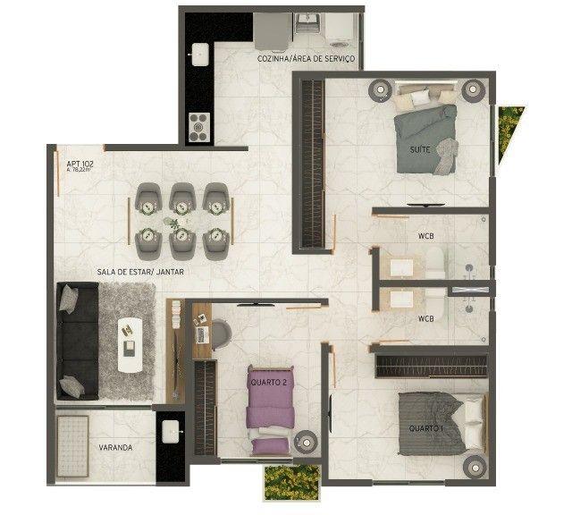 COD 1-487 Apartamento Jardim Oceania 2 quartos bem localizado - Foto 7