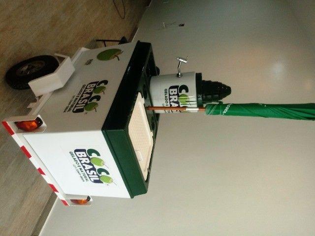 Carretinha de moto para água de coco - Foto 5