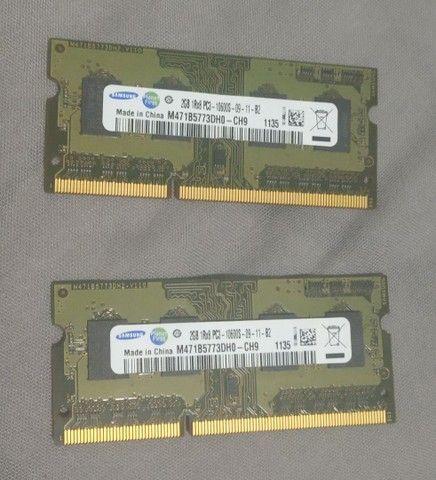 Memoria ram 2x 2gigas Samsung