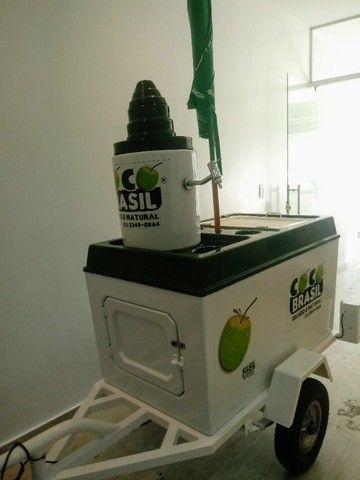 Carretinha de moto para água de coco - Foto 3