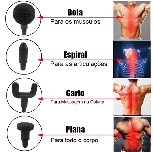 Massageador Elétrico Portátil Profissional Muscular Pistola - Foto 4