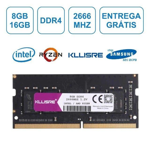 Memória DDR4 8gb 16gb Notebook 2666mhz Kllisre® NOVA, até 12x no cartão