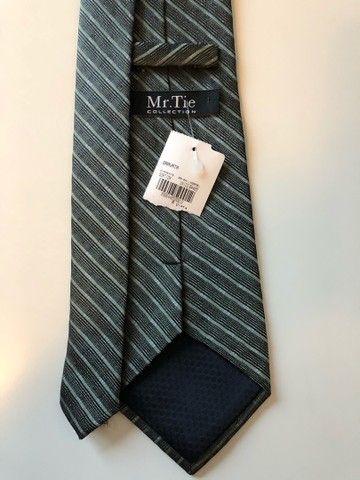 Gravata - Cor Verde Escuro (Produto Novo) - Foto 2