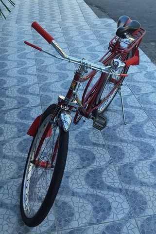 Bicicleta Barra Circular Monark Vermelha aro 26 - Foto 3
